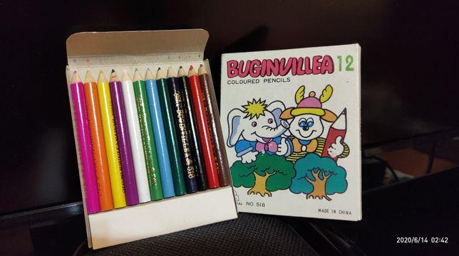 ВИНТАЖ 1980 канцелярские товары Пастель Цветные карандаши Мелки 12 шт.