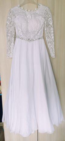 Suknia ślubna koronka