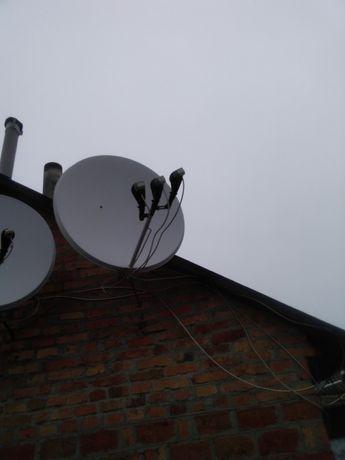 Продам спутниковые антенны в паре, с креплением, без тюнера.,