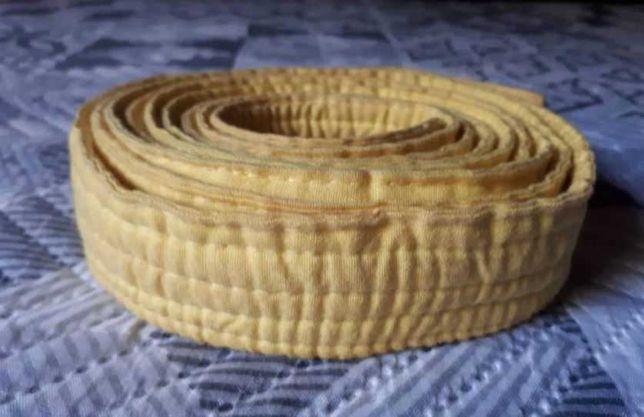 Cinto Amarelo p/ Artes Marciais, 270cm