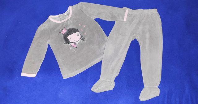 Одежда для девочки пижама костюм для дома тепленький 1-1,5г р.80