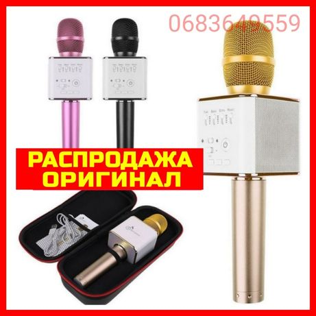 Караоке микрофон Беспроводной Bluetooth колонка Q9 Q7 ws858 с чехлом