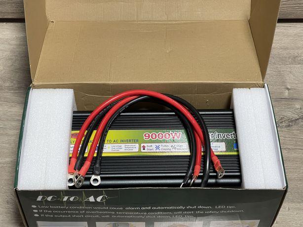 Преобразователь напряжения 12V - 220V 9000W. Инвертор