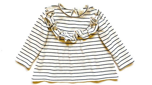 Лонгслив H&M на девочку 6-9 месяцев, р. 74 см