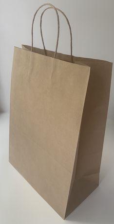 Крафтовые пакеты бурые с ручками 350х250х140 мм