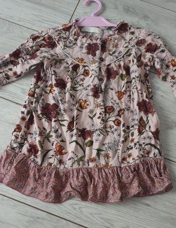 Sukienka tunika szmizjerka w kwiaty zara r. 92
