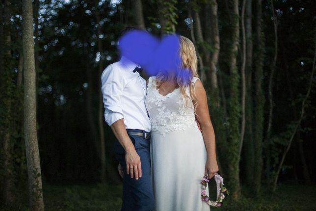 Suknia ślubna boho 42