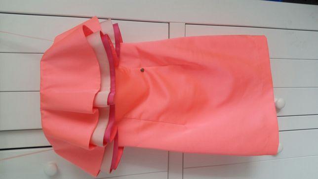 Sukienka Simple neonowa 32 34