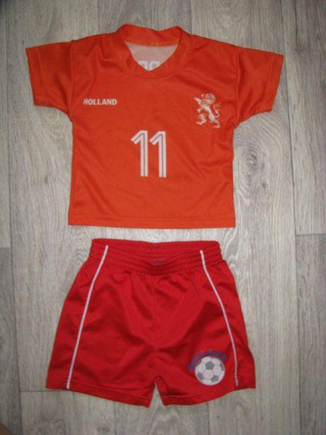 Форма футбольная 2-3 года спортивная футболка шорты