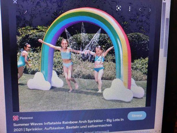 zraszacz tęcza fontanna  dla dzieci duża nowa 180 x 300