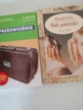 Śluby Panienskie, A. Fredro, Przedwiośnie, S. Żeromski