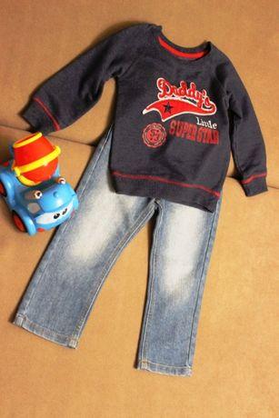 Набор, джинсы и свитшот Rebel 2-3 года