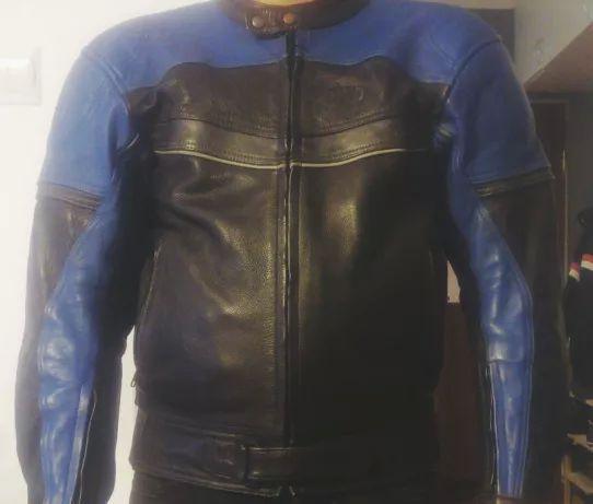 Skórzana kurtka motocyklowa r.52