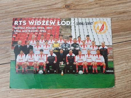 Pocztówka RTS Widzew Łódź 1996/1997
