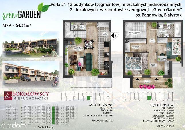 Dwupoziomowe mieszkanie z garderobą i z ogródkiem