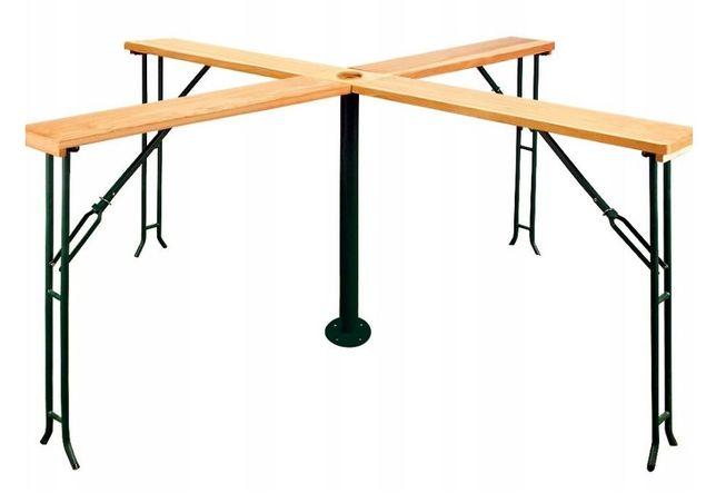 Rozkładany wysoki stół piwny (duży) 240 x 240 (nogi stołu)