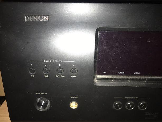 Denon kino domowe + 6 głośników AVR1311