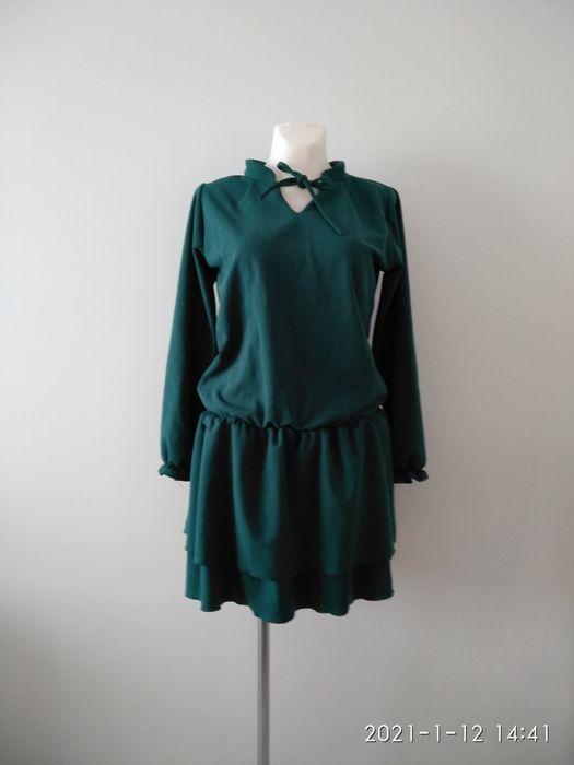 Sukienka butelkowa zieleń Bieruń - image 1