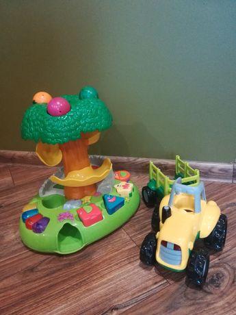 Muzyczne drzewko, traktor, grające zabawki