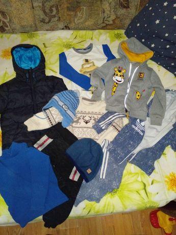 Большой комплект набор пакет одежды куртка шапка костюм шапка кофта.