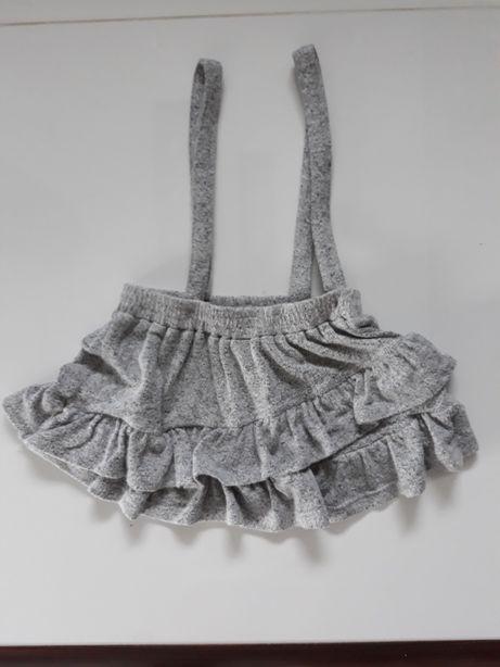 Spódniczka Zara na szelkach