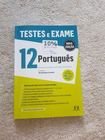 Livro de preparação para exame de Português.