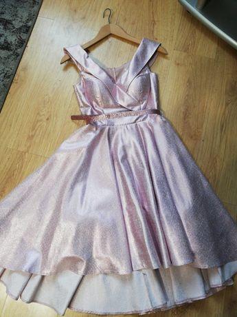 Rozowa sukienka wesele wysyłka gratis