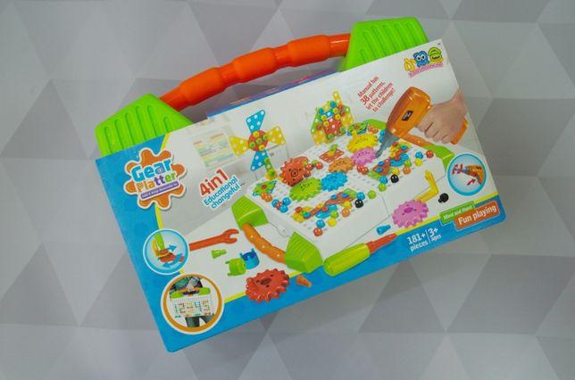 НОВИНКА! Конструктор с шуруповёртом игра для развития навыков мозаика