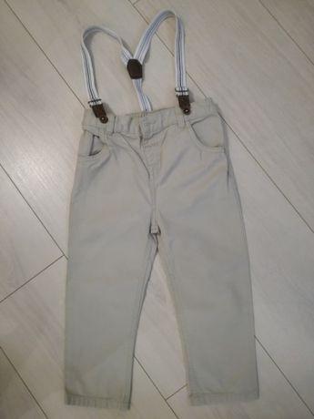 spodnie chłopięce z szelkami 92 cm