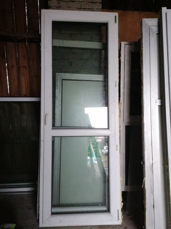 Drzwi balkonowe 86 x 229 pcv używane