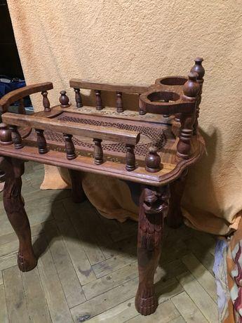 Деревянный столик(столик-тележка) ручная работа,разборной