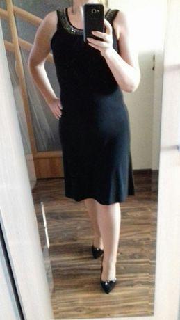 Sukienka czarna S/M wizytowa, karnawał, sylwester