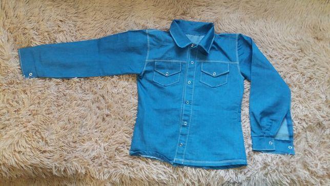 Джинсова рубашка  на хлопчика