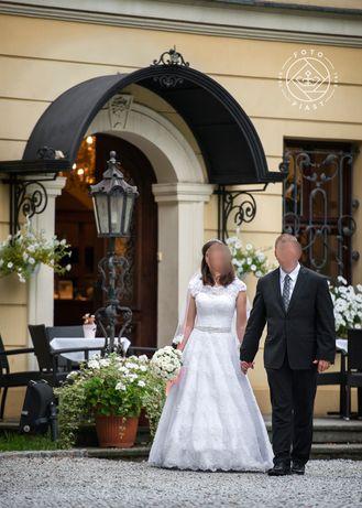 Cudna suknia ślubna 36/ 38 princesska