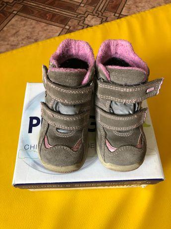Осенние ботинки Primigi р23 утепленные осень-зима (как Ecco)