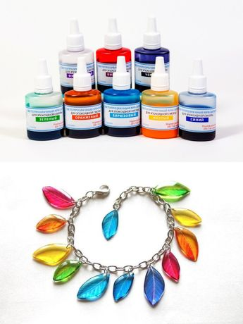Світлопрозорі барвники епоксидної смоли, набір з 8 кольорів, по 5 г