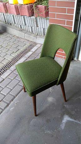 Krzesła muszelki PRL zielone (6 sztuk)