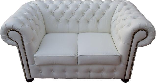 Sofa pikowana 2os Chesterfield Classic PRODUCENT/SKÓRA NATURALNA/KOLOR