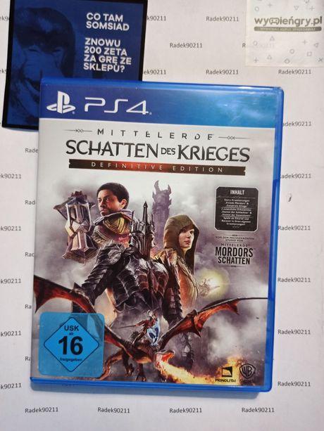 Śródziemie: Cień Wojny Edycja Ostateczna  PS4 PlayStation 4 PS5