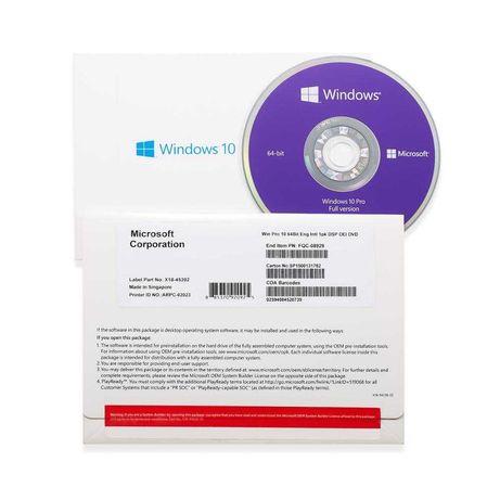 WINDOWS 10 PRO oem klucz windows płyta DVD