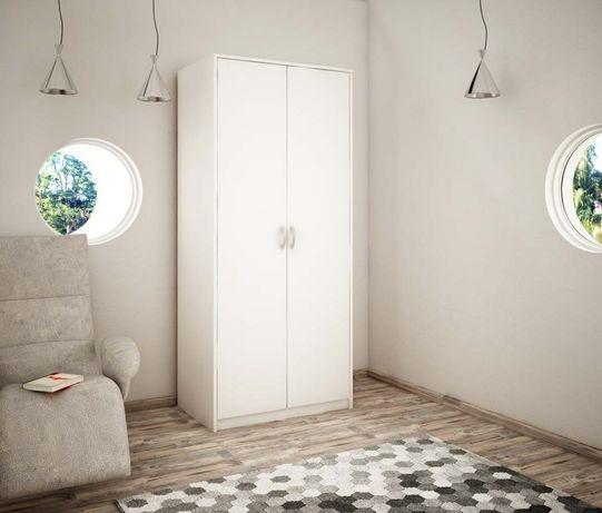 Nowa biała szafa z drążkiem na wieszaki 193x85x55 - OD RĘKI!!!