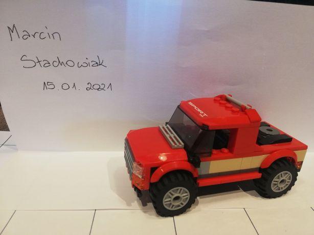 Lego czerwony Pickup 4x4 (z zestawu lego 60182)