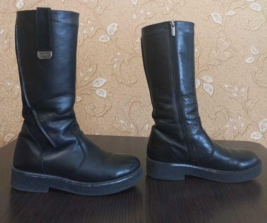 Зимние кожаные сапоги для девочки Tobi