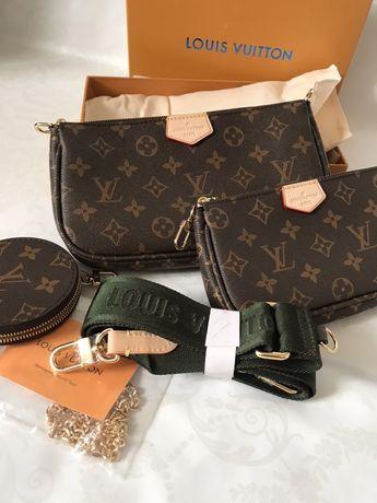 Стильная сумочка клатч Louis Vuitton 3 в 1 Multi Pochette