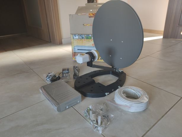 Zestaw satelitarny camper biwak tir