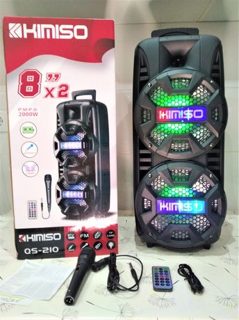 Coluna Com Microfone Karaoke 2000watt