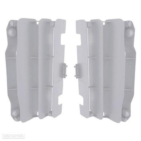 protetor de radiador polisport branco yamaha yz 250f / 450f 2006