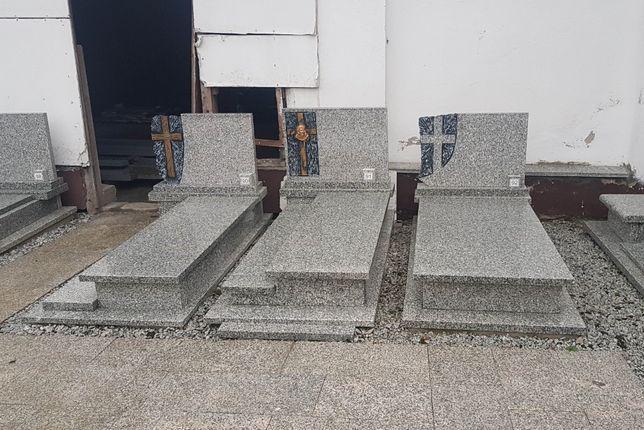 Pomnik nagrobek zł pojedynczy jasny polski granit nie chiny