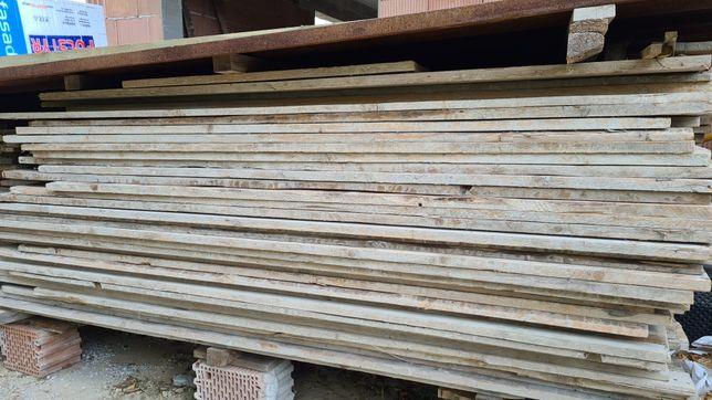 Deski szalunkowe oczyszczone, grubość 3,2 i 2.5 cm, długości 1,5-5,5m,