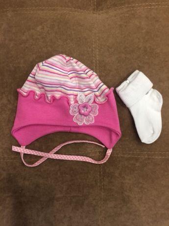 Весенняя шапочка и носочки новые